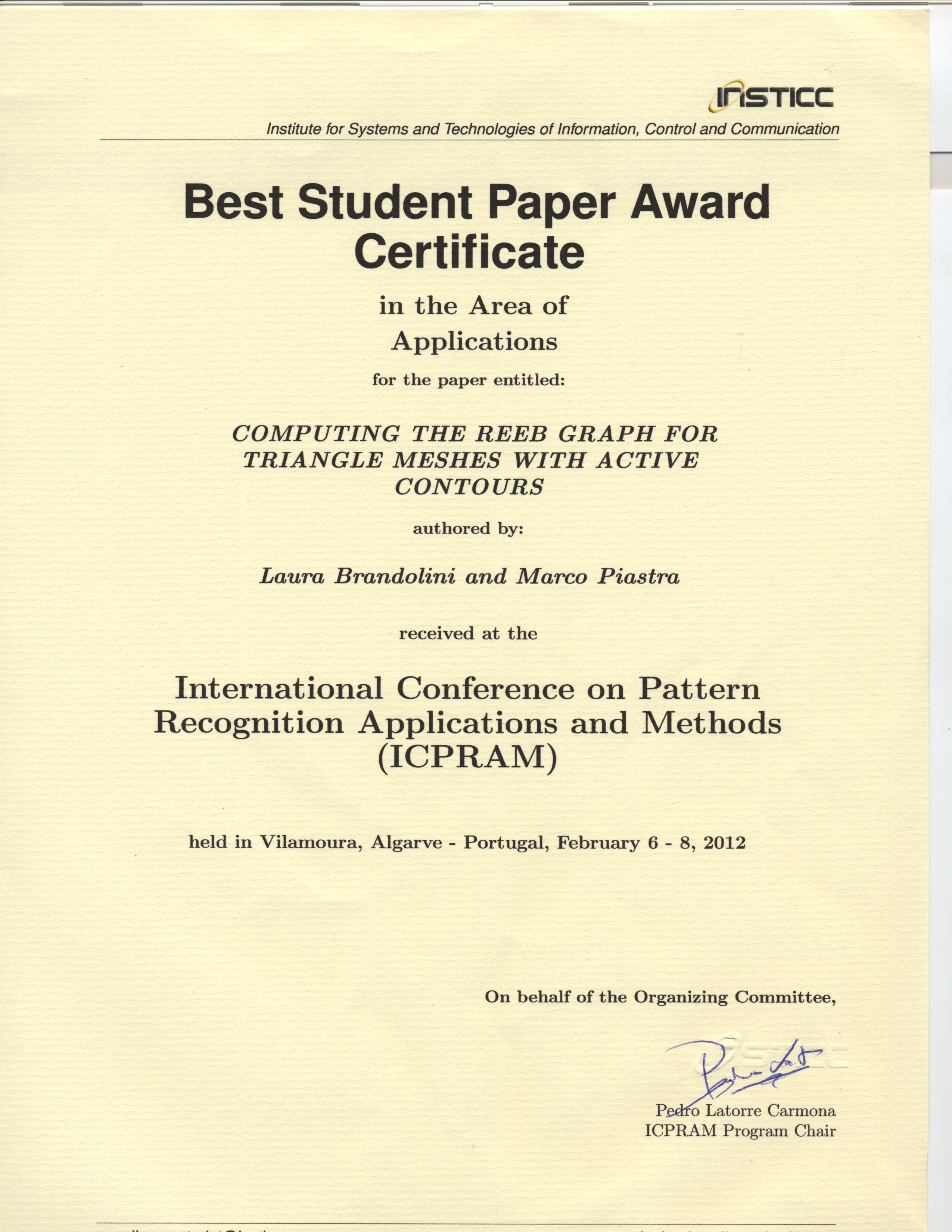 certification of thesis page